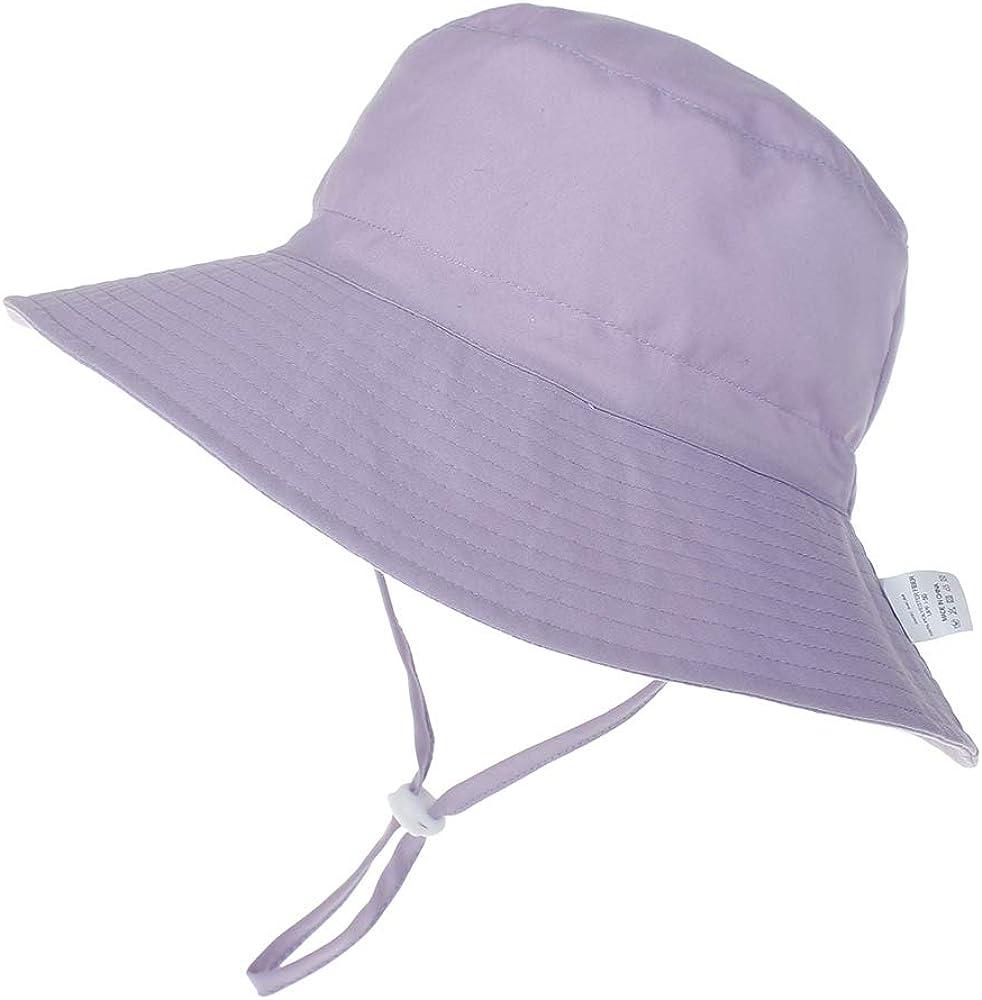 LACOFIA Cappello Regolabile da Sole per Neonato Berretto Estivo per Bambino con UPF 50 Protezione Solare Tesa Larga per Nuoto Spiaggia Piscina