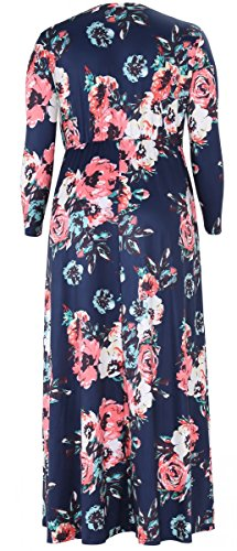 Alaroo Plus Size A Line 3/4 Sleeve Pocket Casual Maxi Maternity Dresses Old Navy 2XL