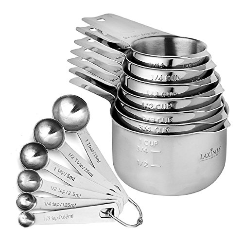 13 Piece Measuring Cups And Spoons Set, Sturdy & Stainless S