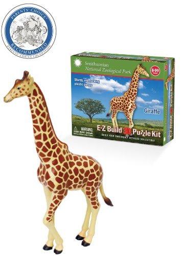 Smithsonian E-Z Build Puzzle - Giraffe by E-Z Build 3D Puzzle Kit WowToyz SG_B00EZB3WIC_US