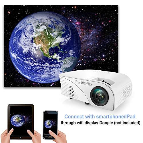 SEXTT Proyector de Inicio, 2000 lúmenes 1080P HD proyector ...