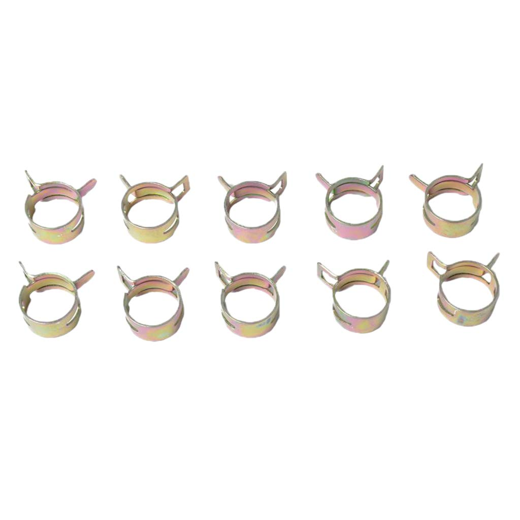 B Blesiya 10 Sets Spring Clips Fuel Hose Line Tube Pipe Air Tube Clamps 18mm
