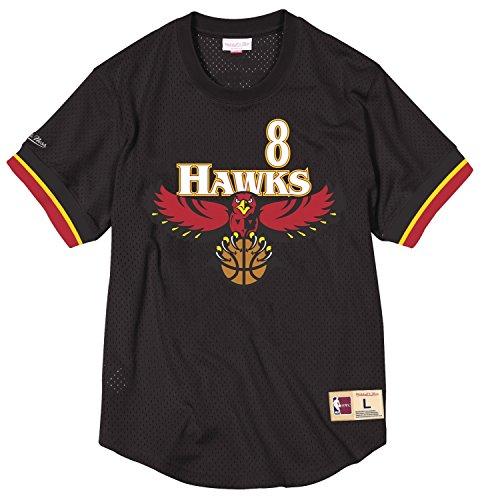 (Steve Smith Atlanta Hawks Mitchell & Ness NBA Men's Mesh Jersey Shirt)