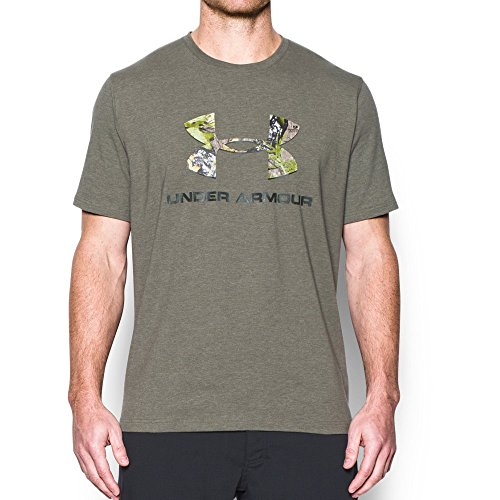 Under Armour Men's Camo Fill Logo T-Shirt, Foliage Green/Mossy Oak Obsession, Large
