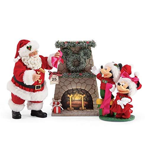 Department 56 Possible Dreams Santas Mickey and Minnie's Wreath Figurine 10.5'' Multicolor