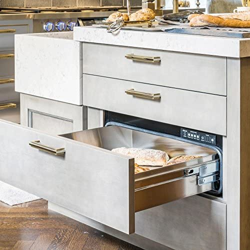 """Dacor IWD30 Renaissance Integrated 30"""" Electric Warming Drawer With 500 Watt Heating Element 4 Timer Settings Plus Infinite Mode Blue LED Light Indicator and Requires Custom"""