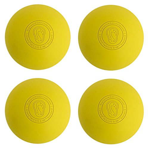Signature Lacrosse Ball (4-Ball) Yellow NOCSAE & SEI Approved Yellow-4P