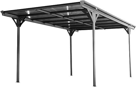 Westmann Helsinki - Techo plano de aluminio, incluye canalón, color antracita: Amazon.es: Jardín
