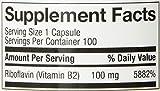 Natures Way Vitamin B2, 100 mg Riboflavin,  100 Capsules