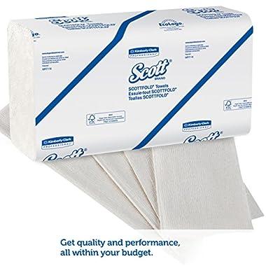 Scott Multi Fold Hand Towel 28610 - M Fold Paper Towel - 16 Packs x 250 Sheets - White Folded Paper Towel Sheets 24 cm X 23.1 cm (4000 Total) 8
