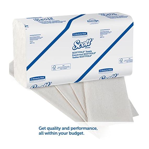 Scott Multi Fold Hand Towel 28610 - M Fold Paper Towel - 16 Packs x 250 Sheets - White Folded Paper Towel Sheets 24 cm X 23.1 cm (4000 Total) 3