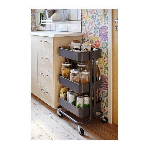 IKEA RASKOG - Cocina carro, gris oscuro - 35x45x78 cm: Amazon.es: Juguetes y juegos