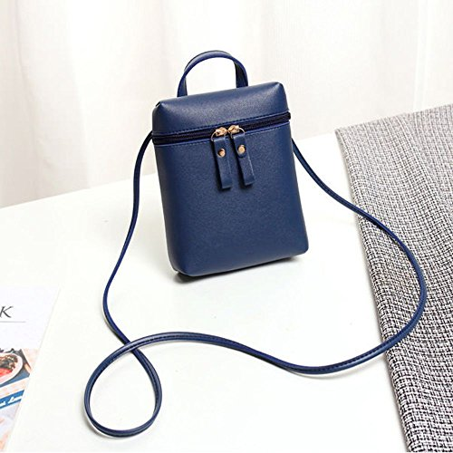 Mini Handbags for Body Keys Women LAPOPNUT Ladies Cross Holder Bags Girls Leather Over PU Crossbody Messenger Bag Shopping Phone Pouches Travelling Coins Blue Shoulder for Bag dn6wqvZ