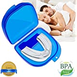 Mouth Guard for Grinding Teeth, Snoring Mouthpiece, Night Guards for Teeth Grinding, Snoring Solution, Dental TMJ Mouth and Bite Guard for teeth grinding, to Give You a Good Night's Sleep (white)