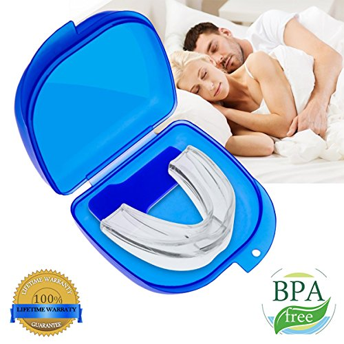 Mouth Guard for Grinding Teeth, Snoring Mouthpiece, Night Guards for Teeth Grinding, Snoring Solution, Dental TMJ Mouth and Bite Guard for teeth grinding, to Give You a Good Nights Sleep (white)