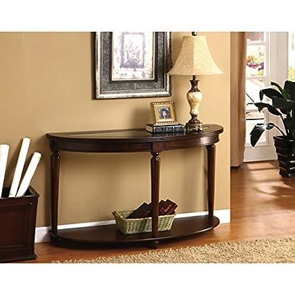 Amazon Com Furniture Of America Crescent Glass Top Console Sofa