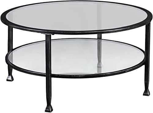 SEI Cocktail Table Handpainted Black/Silver Distressing