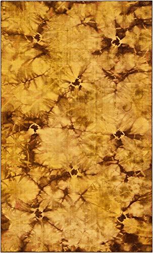 (Surya Bohemia BHM-1005 Transitional Hand Woven 100% Wool Citrine 5' x 8' Global Area)
