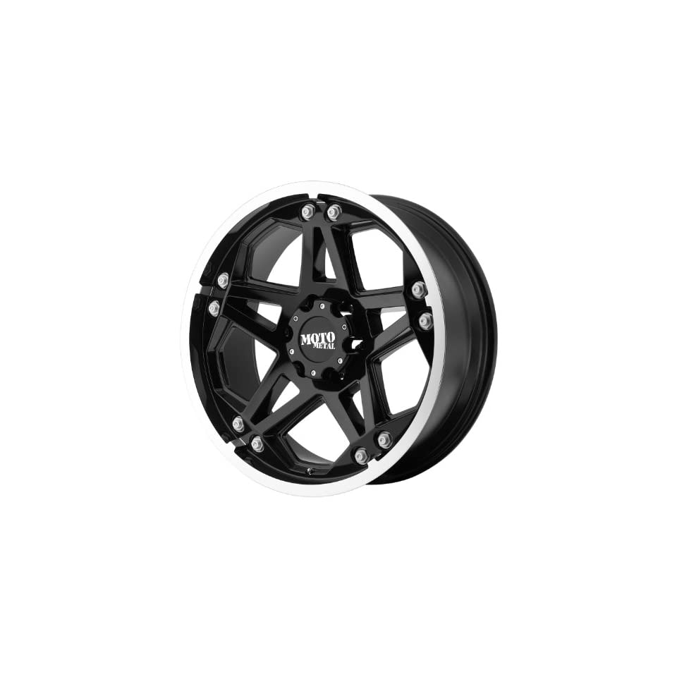 Moto Metal MO960 17x8 Black Wheel / Rim 6x5.5 with a 0mm Offset and a 106.25 Hub Bore. Partnumber MO96078068300