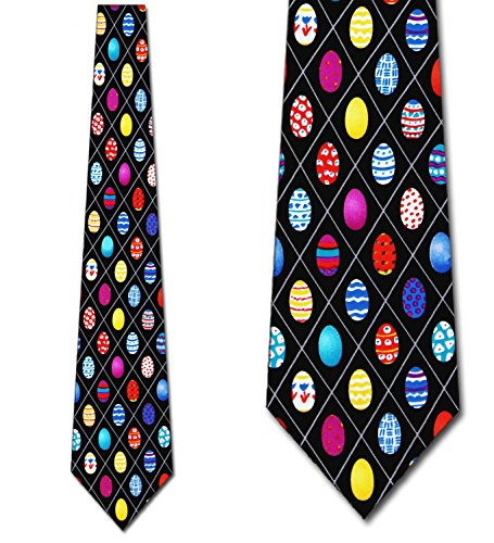 Easter Egg ties Mens Necktie by Three Rooker (Eggs Tie Easter)