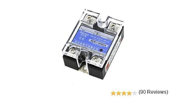 24-480V CA CC a 3-32VDC Salida Monofásico SSR Macizo Relé Estado 40A: Amazon.es: Bricolaje y herramientas