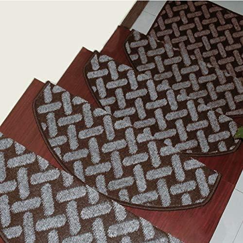 Sólido de color huellas de escalón alfombrilla antideslizante for alfombras de escaleras Espesar antideslizante Escalera Mats, Interior Exterior Escalera Mats (Color : Y , Size : 80X24CM glue-free) : Amazon.es: Hogar