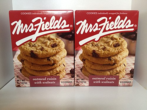 Mrs. Fields Oatmeal Raisin with Walnuts, 8 Cookies (Pack of 2)