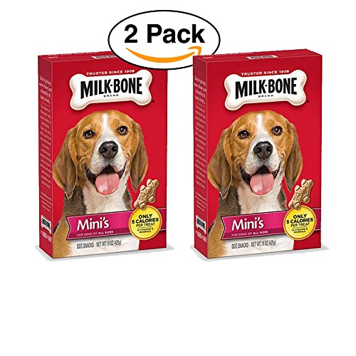 2 Pack - Milk-Bone Mini's Original Dog Treats, 15-oz box