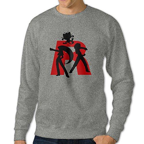 HUHA Poke Team Rocket Men's Crewneck Sweatshirt Tops ()