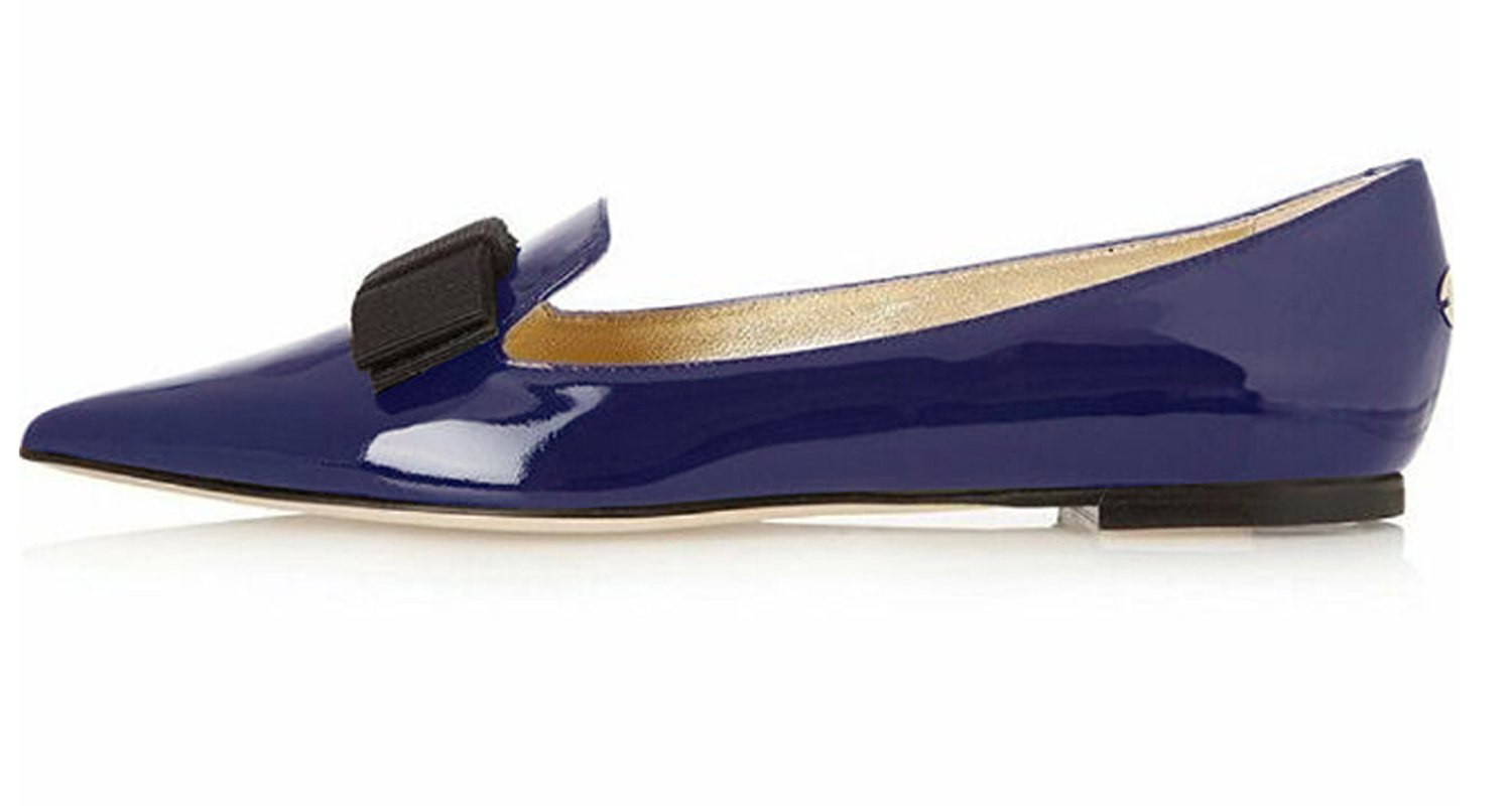 Eldof Women's Flats, Pointed Toe Flats Pumps, Patent Leather Flats Pumps, Walking Dress Office Classic Comfortable Flats B07DHL5L6V 13 B(M) US|Navy