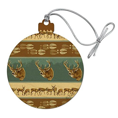 Graphics and More Deer Head Hunting Hunter Wood Christmas Tree Holiday Ornament