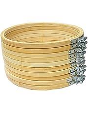 Cleana Arts 10-pack borduurframe bamboe cirkel kruissteek hoepel ring