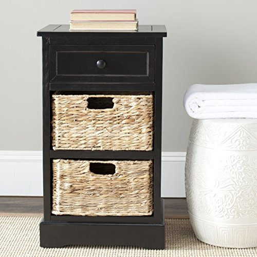 Safavieh American Homes Collection Carrie Distressed Black Side Storage Side Table