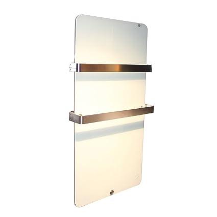 Calefacción por infrarrojos 600 W Calefacción por infrarrojos de cristal Diseño Radiador Eléctrico (doble cristal