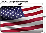 MSD Large Table Mat Non-Slip Natural Rubber Desk Pads Image ID 27128928 United States of America Flag Waving