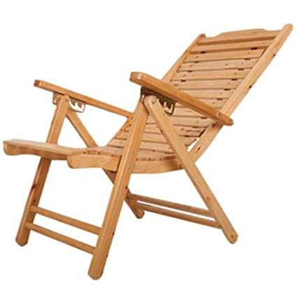 Amazon.com: Silla reclinable de madera maciza, plegable ...