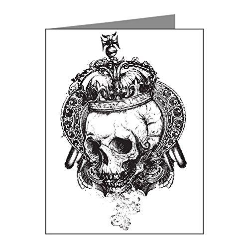 Note Card Dead King Skull Crown