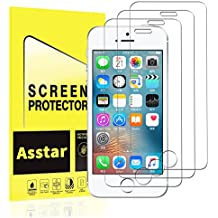 iPhone 5S Screen Protector, Asstar [2 Pack] Premium Tempered Glass Screen Protector Anti-Fingerprint, Anti-scratch, Scratch Resist, Crystal Clear for iPhone SE / 5 / 5S / 5C