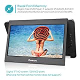 "NAVISKAUTO 10.1"" Dual Screen DVD Player Ultra-thin TFT Screen Car Backseat Headrest Portable DVD Player-Black"
