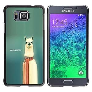 // PHONE CASE GIFT // Duro Estuche protector PC Cáscara Plástico Carcasa Funda Hard Protective Case for Samsung ALPHA G850 / Cold Llama - Funny /