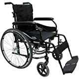 Karman Ultra Lightweight Wheelchair in 16 inch Seat with Flip Back Armrests and Adjustable Seat Height