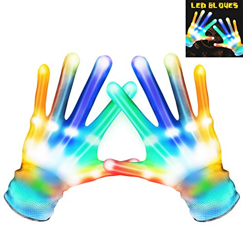 Halloween Games For 8-12 Year Olds (MAOXIAN Flashing LED Gloves,Kid Camping Outdoor Games for 4 5 6 7 8 9 10 11 12 Year Old and Above can wear, Halloween Christmas Party Best Costume Gift,in The)