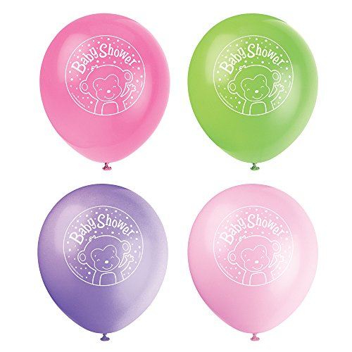 12-latex-girl-monkey-baby-shower-balloons-8ct
