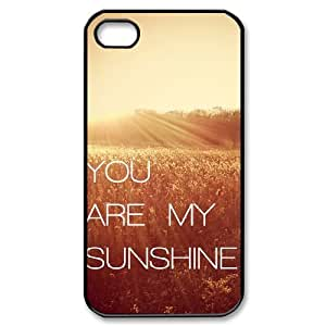 Iphone 4,4S case, Popular Case Cover for Iphone 4,4S,Personalize You are my SunShine cell phone Case for Iphone 4,4S moye-9768198 at monye.