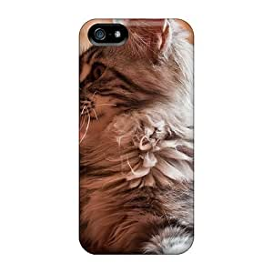 DeannaTodd Design High Quality A Cat Laying On The Bed Cases With Excellent Style For Ipod Touch 4 Phone Case Cover