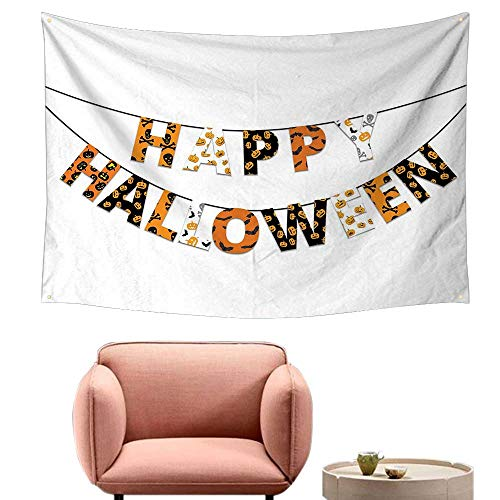 Agoza Wall Tapestry for Bedroom Halloween Happy Halloween