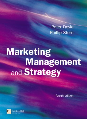 Marketing Management and Strategy (4th Edition)