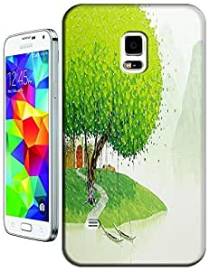 LKPOP Cases / Covers Oil Paintings Design With Color Purple Orange Green Abstract Colorful Cell Phone Case For Samsung Galaxy S5 i9600 No.1 by lolosakes