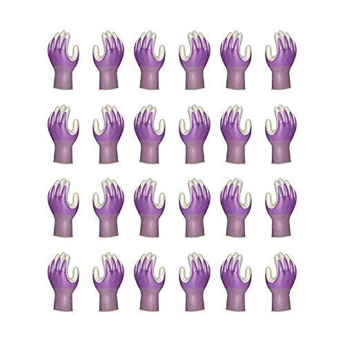 Atlas Fit 370 Showa Nitrile Purple Extra-Small Garden Work Gloves, 12-Pairs by Atlas