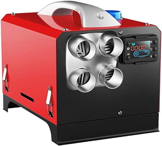 Lukucea 5kw Diesel Lufterhitzer Standheizung Diesel Luft Dieselheizung Air Diesel Heizung Für Auto Lkw Wohnmobil Bus Mit Lcd Schalter 4 Luftauslass 24v Küche Haushalt